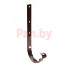 Кронштейн (держатель) водосточного желоба Galeco D-125, метал., длинный, усилен., Коричневый