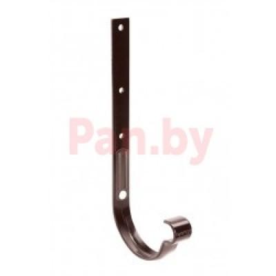 Кронштейн (держатель) водосточного желоба Galeco D-150, метал., длинный, усилен., Коричневый