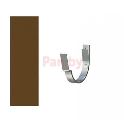 Кронштейн (держатель) водосточного желоба Lindab 125/87 D-125, Коричневый, 70мм