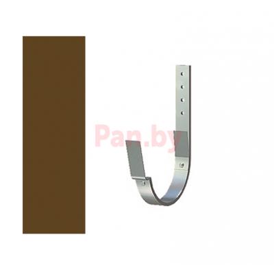 Кронштейн (держатель) водосточного желоба Lindab 125/87 D-125, Коричневый, 210мм