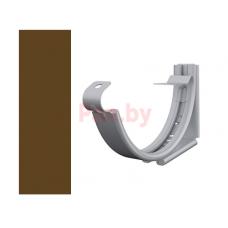 Кронштейн (держатель) водосточного желоба Lindab 125/87 регулируемый, D-125, Коричневый