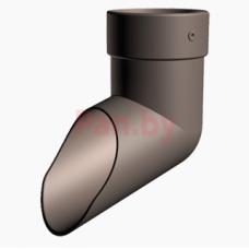 Слив (отмет) водосточной трубы Docke Lux D-100, Шоколад