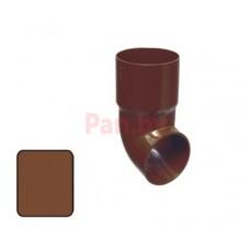 Слив (отмет) водосточной трубы Plastmo 125/90 D-90, Коричневый