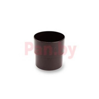 Соединитель (муфта) водосточной трубы Galeco D-150, металл., Коричневый
