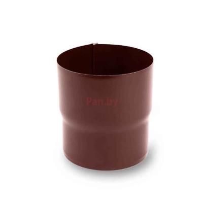 Соединитель (муфта) водосточной трубы Galeco D-150, металл., Шоколадный