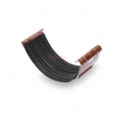 Соединитель водосточного желоба Galeco D-125, металл, с креплением, Шоколадный
