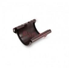 Соединитель водосточного желоба Galeco D-150, металл, с креплением, Коричневый