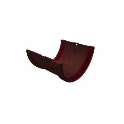 Соединитель водосточного желоба Grand Line Стандарт шоколадный
