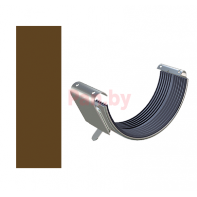 Соединитель водосточного желоба Lindab 125/87 D-125, Коричневый