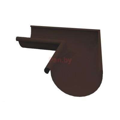 Угол водосточного желоба Альтер 120/100 наружный, D-120, Шоколад