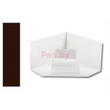 Угол водосточного желоба Альтер 120/76 ПЭ мат., внутренний, 120х86мм, Шоколад