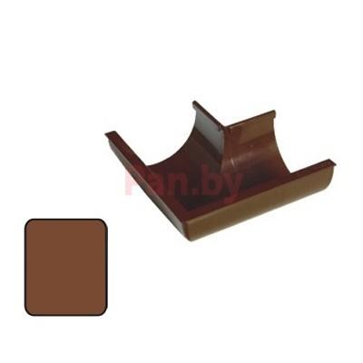 Угол водосточного желоба Plastmo 125/90 наружный, 90 град., D-125, Коричневый