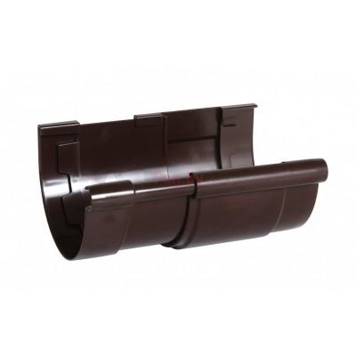Компенсатор водосточного желоба Nicoll LG25 D-125, Коричневый (клеевое соед.)