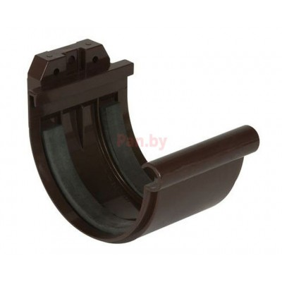 Соединитель водосточного желоба Nicoll LG25 D-125, Коричневый (резиновое уплотнение)