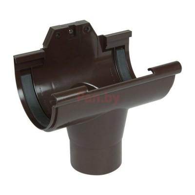 Воронка водосточная Nicoll LG25 обычная, D-125/80, Коричневый (резиновое уплотнение)