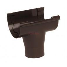 Воронка водосточная Nicoll LG25 обычная, D-125/80, Коричневый (клеевое соединение)