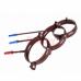 Хомут (кронштейн) водосточной трубы Profil 90 метал., D-75, Коричневый (шпилька 160мм)