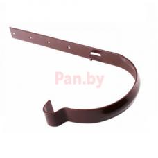 Кронштейн (держатель) водосточного желоба Profil 90 метал., D-90, Коричневый