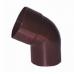 Колено (отвод) водосточной трубы Profil 90 60 град., D-75, Коричневый
