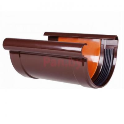 Соединитель водосточного желоба Profil 90 D-90, Коричневый