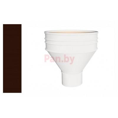 Воронка водосточная Альтер 120/100 водосборная, D-100, Шоколад