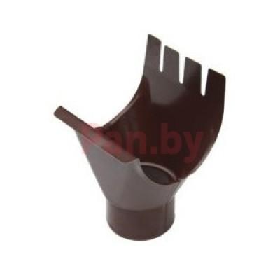 Воронка водосточная МеталлПрофиль Престиж выпускная, D125/100, Шоколад