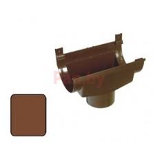 Воронка водосточная Plastmo 125/90 расширительная, Коричневый