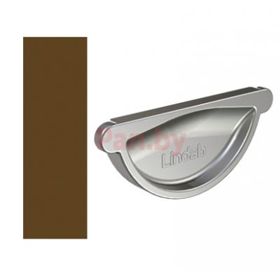 Заглушка желоба Lindab 125/87 универс., D-125, Коричневый