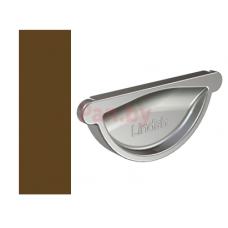 Заглушка желоба Lindab 150/100 универс., D-150, Коричневый