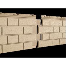 Фасадная панель Ю-пласт Стоун Хаус S-Lock Клинкер Песочный