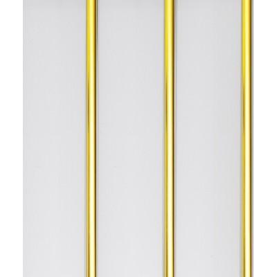 Панель ПВХ Акватон 20см 2-секционная Золото (900/6) - длина 3м