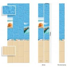 Панель ПВХ Век 25см Песчаный берег Глянец ФОН - длина 2.7м