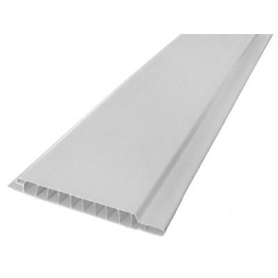 Панель ПВХ Пласт Декор 10см Вагонка Матовая белая - длина 3м