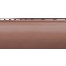 Сайдинг Альта-Профиль Blockhouse Красно-коричневый (однопереломный)