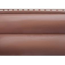 Сайдинг Альта-Профиль Blockhouse Красно-коричневый (двухпереломный, малый)