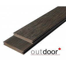 Террасная доска ДПК Outdoor 3D Storm/Old Wood Brown Темно-коричневый