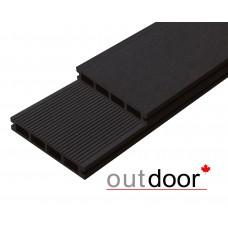 Террасная доска ДПК Outdoor Вельвет Темно-коричневый