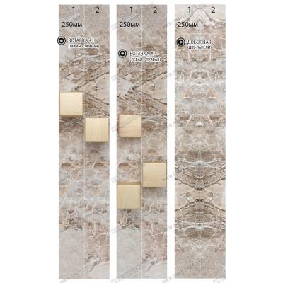 Панель ПВХ Век Кубы вставка - длина 2.7м