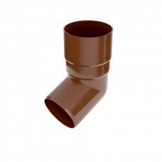 Колено (отвод) водосточной трубы Bryza 67,5°, D-90, Коричневый