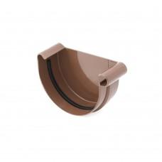 Заглушка водосточной воронки (желоба) Bryza 125 правая, D-125, Коричневый