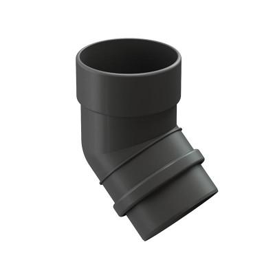 Колено водосточной трубы Docke Lux 45˚ D-100, Графит