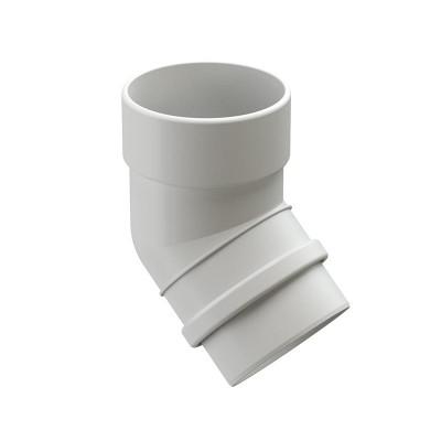 Колено водосточной трубы Docke Lux 45˚ D-100, Пломбир