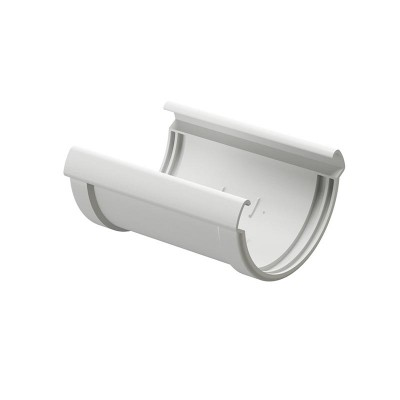 Соединитель водосточного желоба Docke Premium D-120, Пломбир