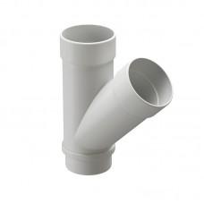 Тройник водосточной трубы Docke Lux 45˚ D-100, Пломбир