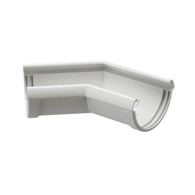 Угол водосточного желоба Docke Lux 135˚ D-141, Пломбир