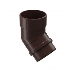 Колено водосточной трубы Docke Lux 45˚ D-100, Шоколад