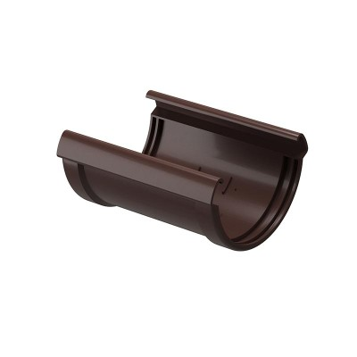 Соединитель водосточного желоба Docke Premium D-120, Шоколад