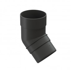 Колено водосточной трубы Docke Premium 45˚ D-85, Графит