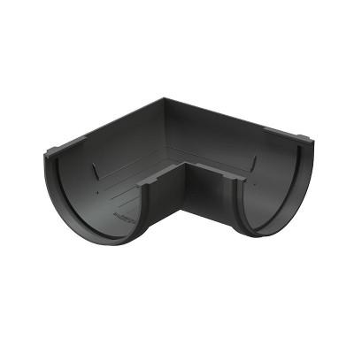 Угол водосточного желоба Docke Premium 90˚ D-120, Графит