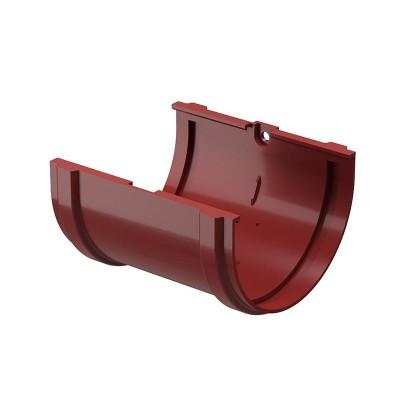 Соединитель водосточного желоба Docke Premium D-120, Гранат